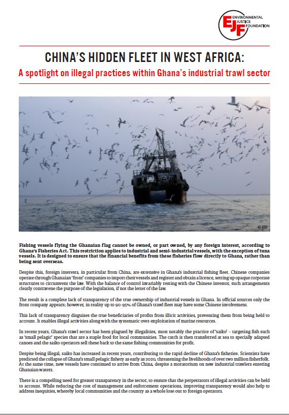 Briefing: China's hidden fleet in | Environmental Justice Foundation