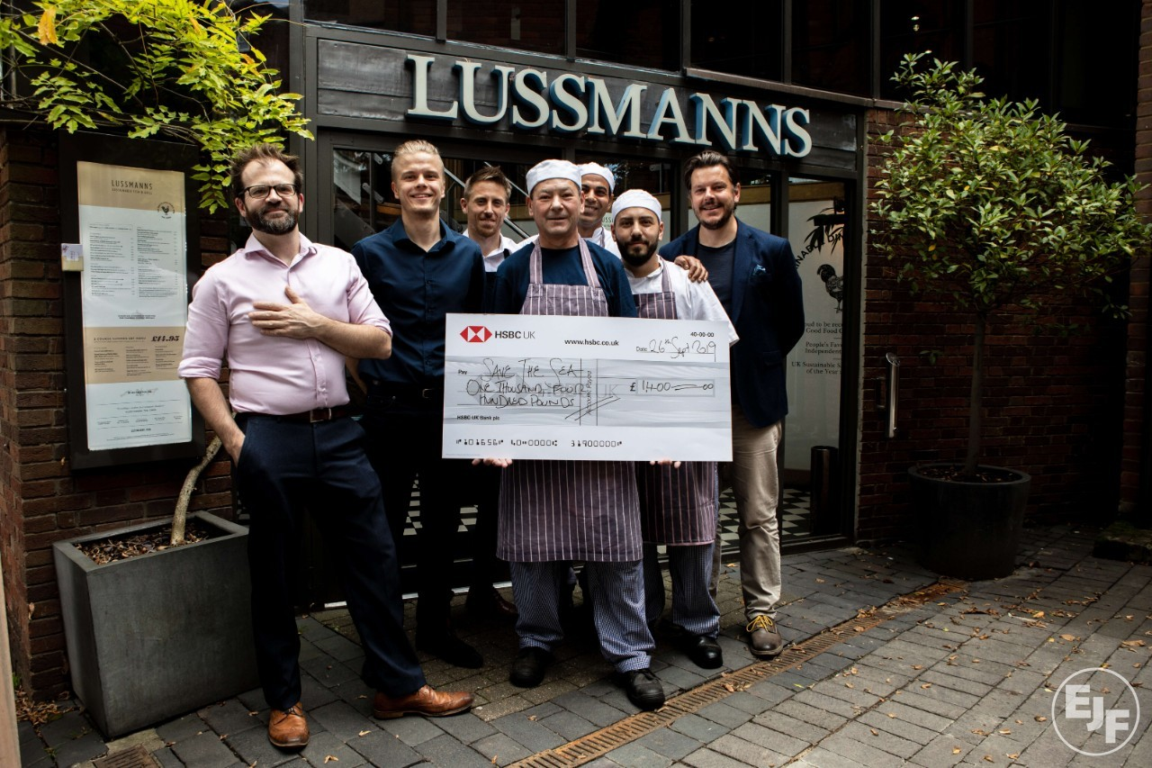 Sustainable seafood restaurant Lussmanns helps EJF to Save the Sea