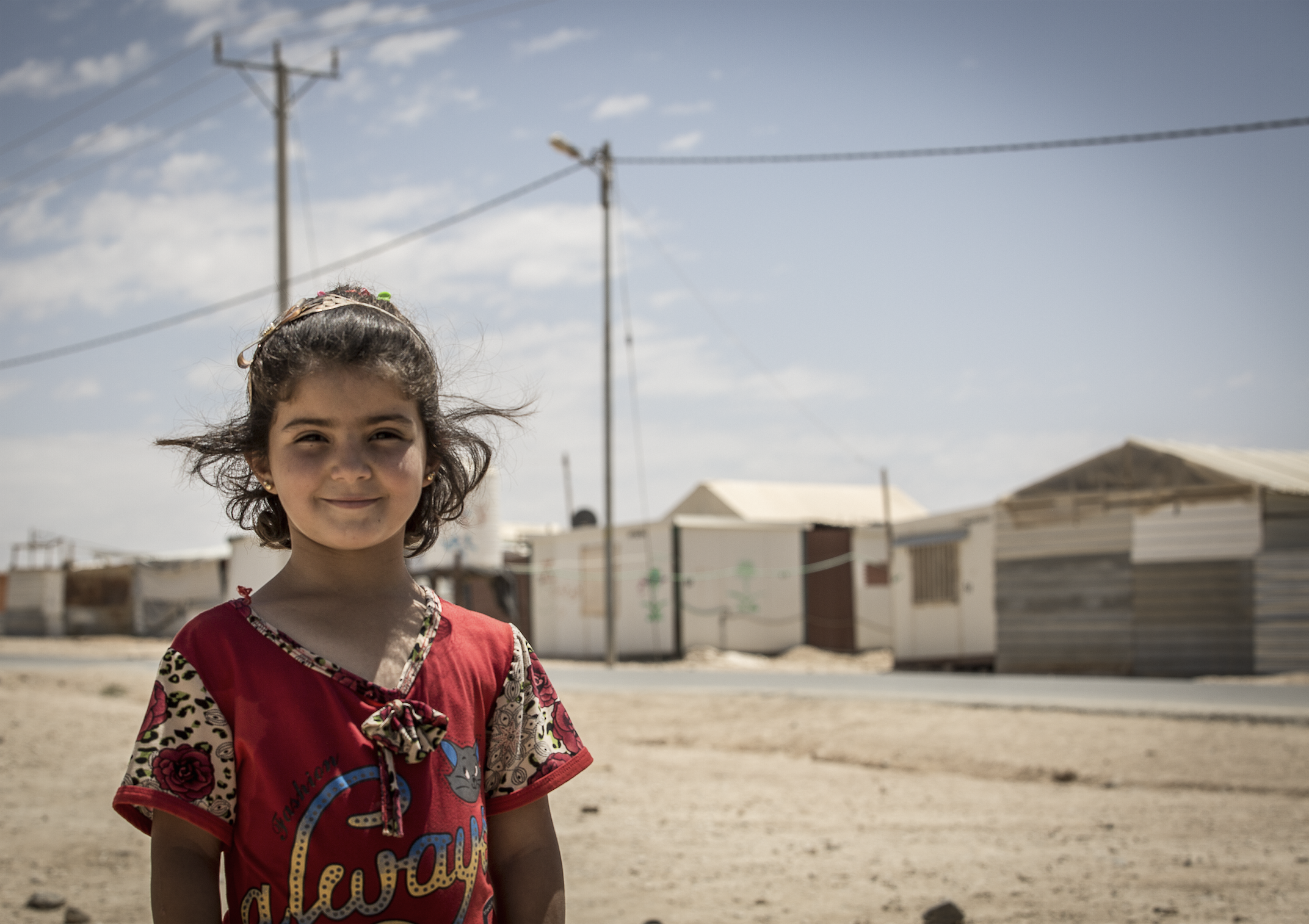 A Young Syrian Girl In Za'Atari Refugee Camp Jordan