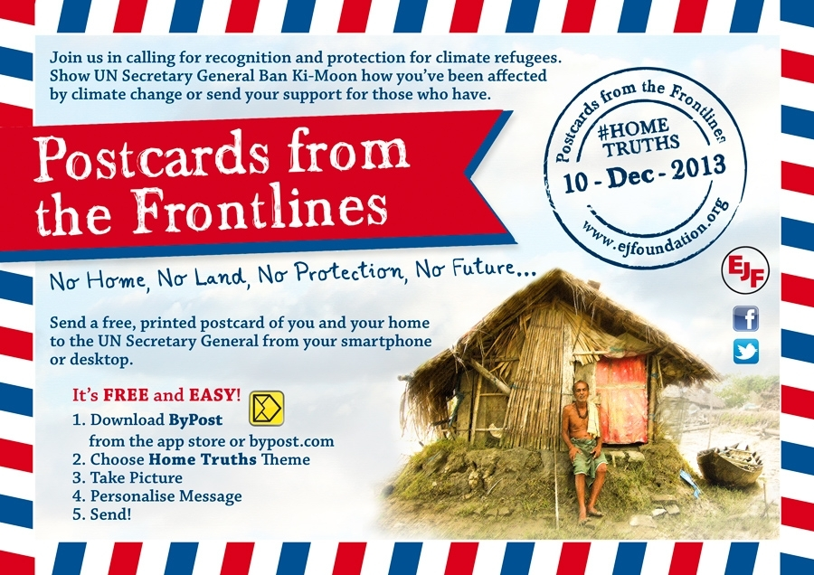 EJF's 'Postcards from the Frontlines' goes live!
