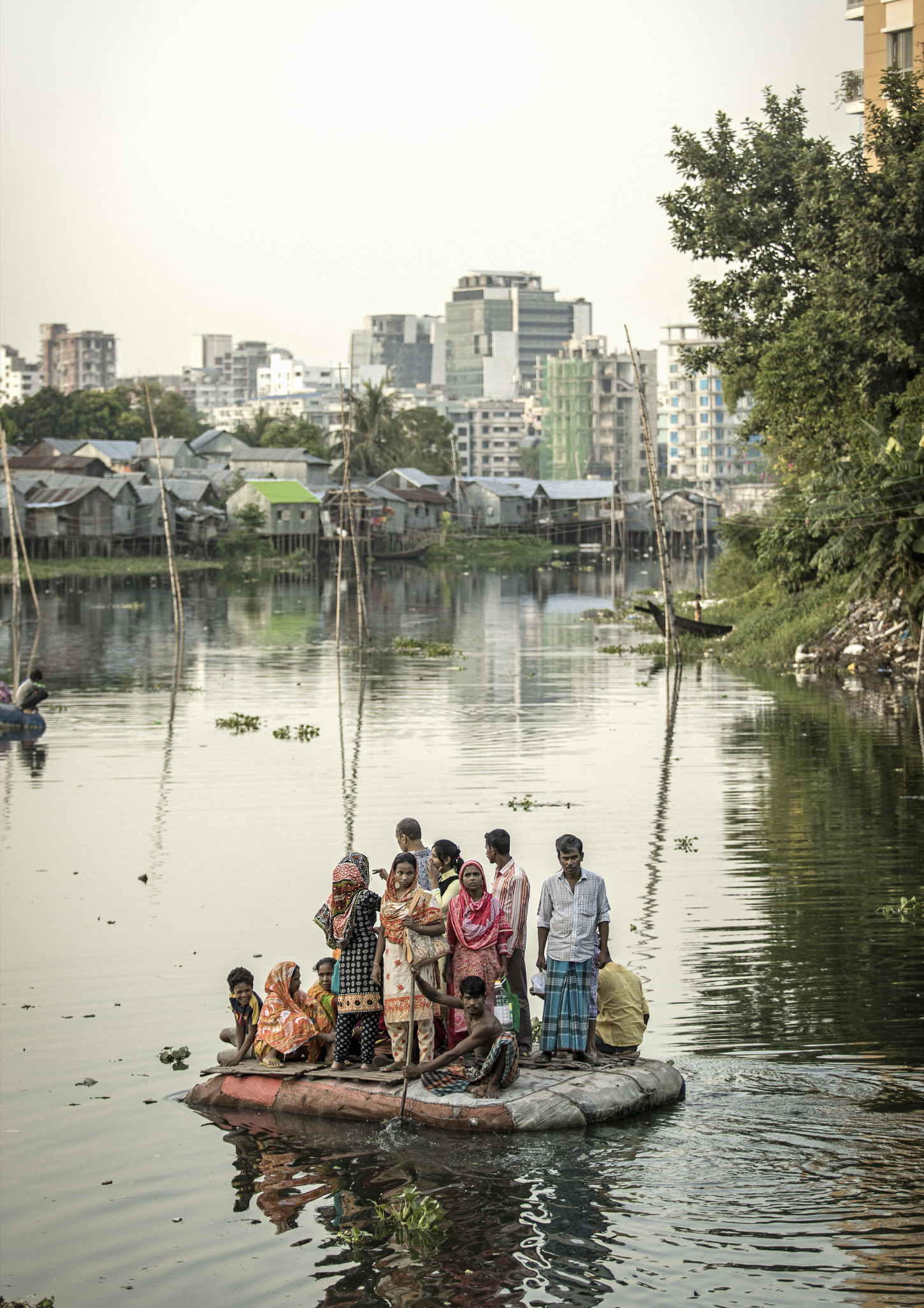 Residents Of Korail Slum Outside Dhaka Bangladesh
