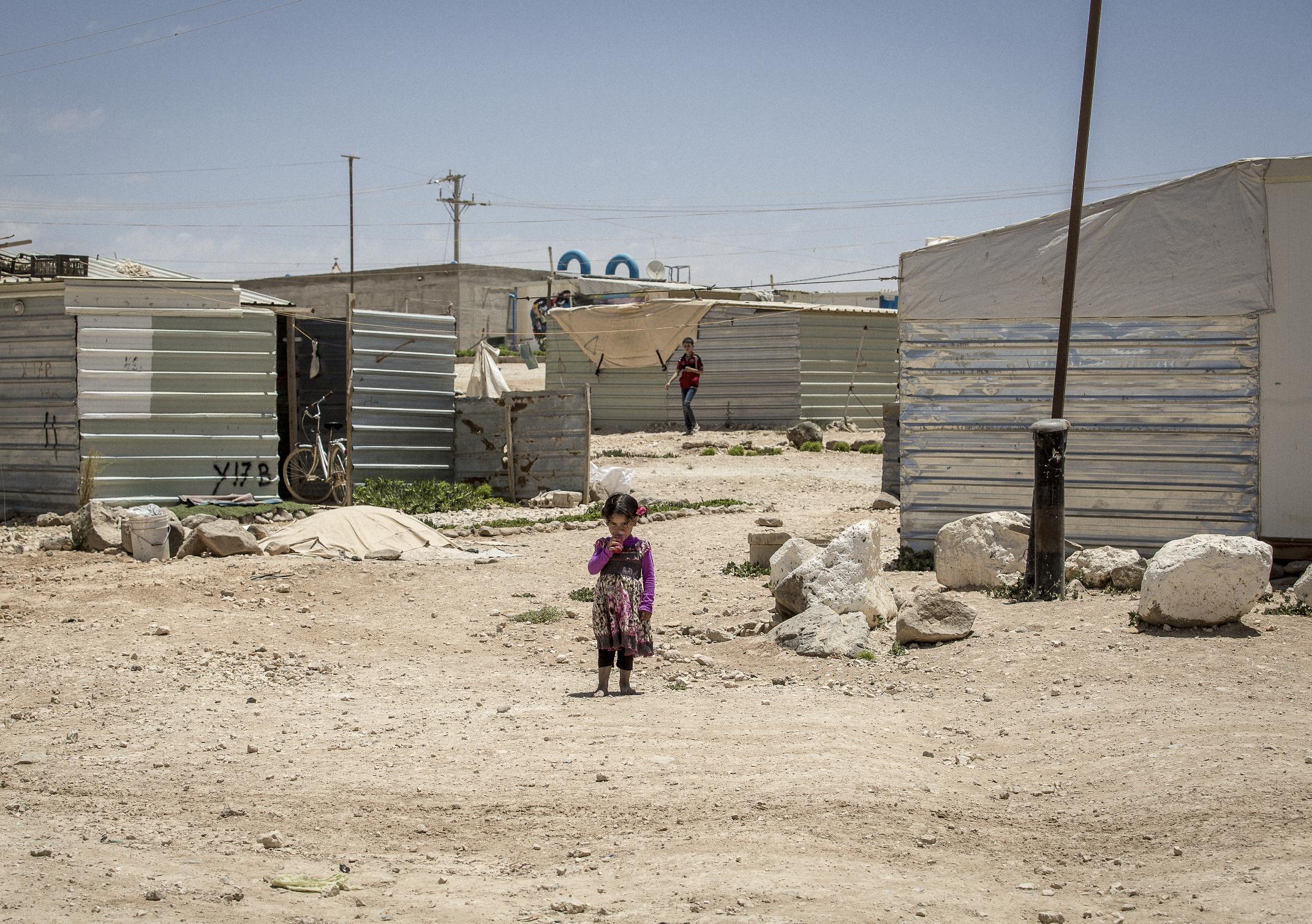 Syrian Refugees In Za'Atari Refugee Camp Jordan