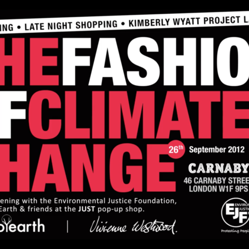 Launch of EJF's JUST Pop Up Shop on London's Carnaby Street