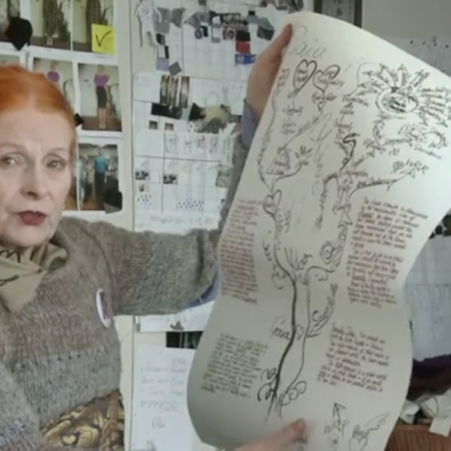 """Vivienne Westwood on her """"War and Peace"""" T-shirt"""