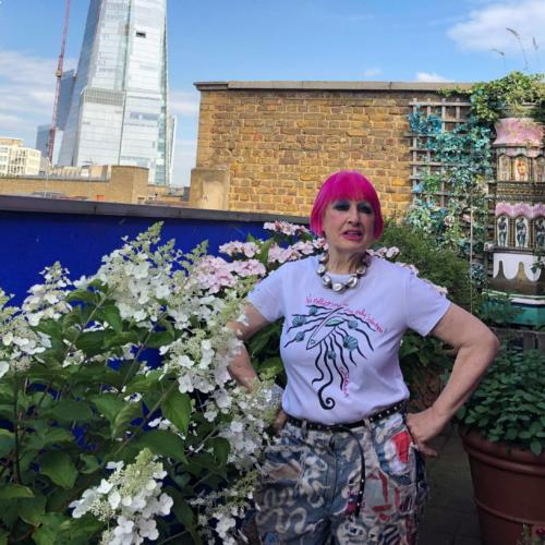 Zandra Rhodes charity t-shirt will help to 'Save the Sea' from plastic pollution