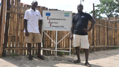 Ceremony held to open new EJF office in Bonthe, Sierra Leone