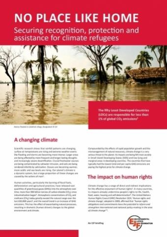 Securing Recognition, Protection and Assistance for Climate Refugees
