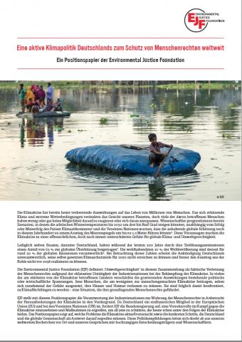 Eine aktive Klimapolitik Deutschlands zum Schutz von Menschenrechten weltweit