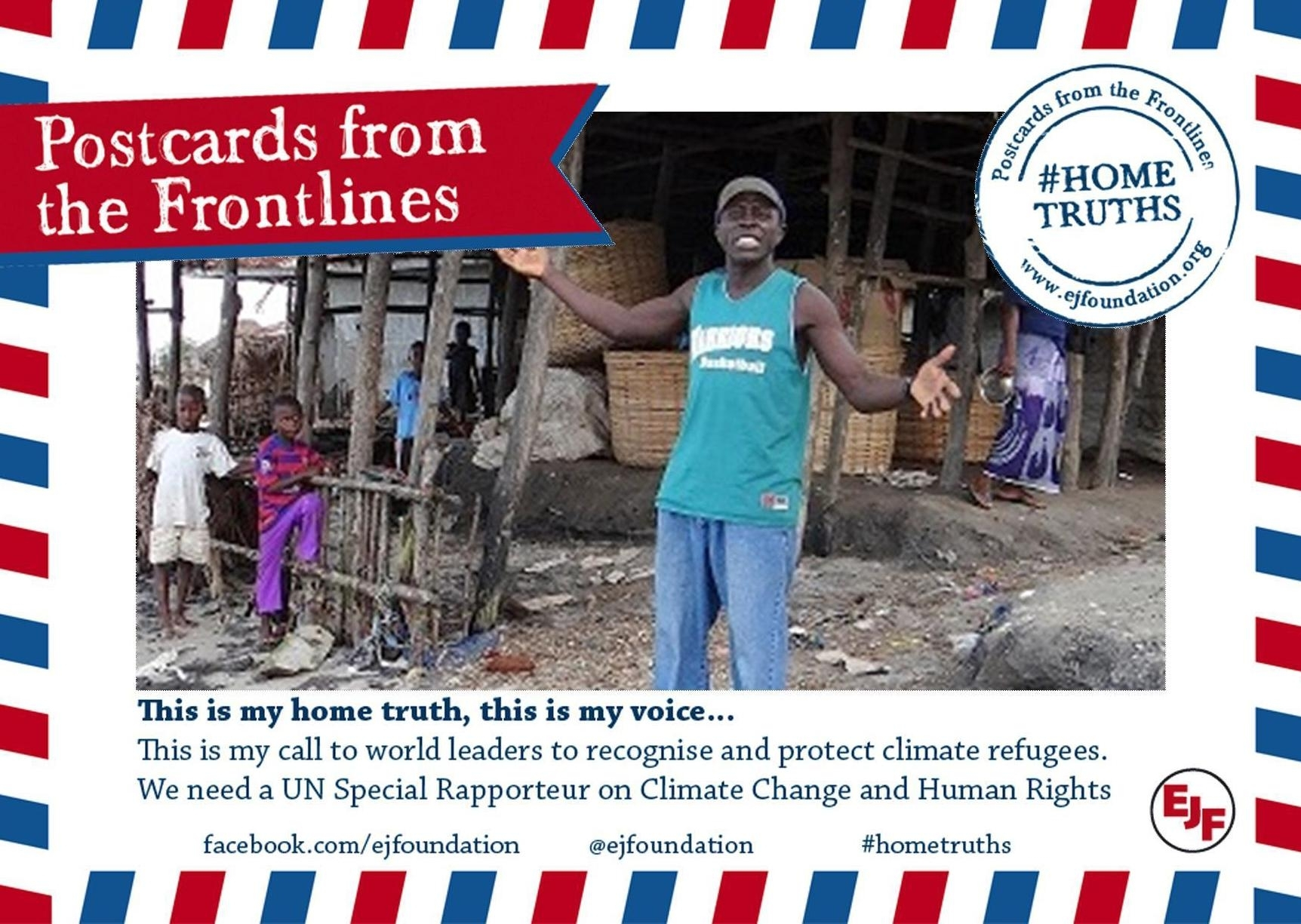 Postcards from the Frontlines will be sent to the UN on the occasion of the Climate Summit