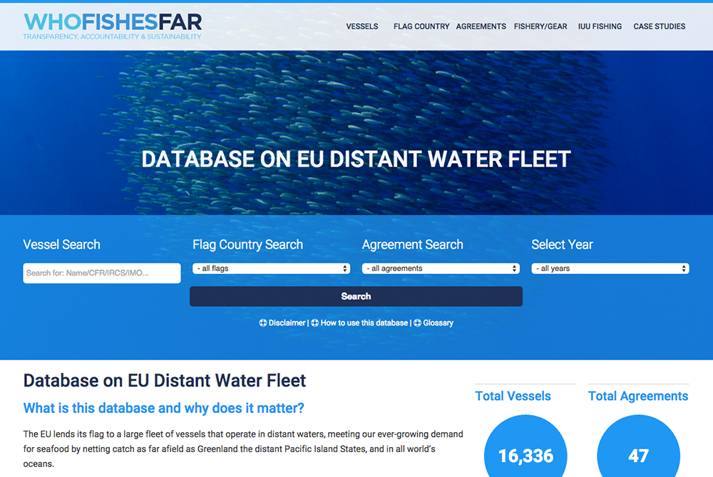 Newly released database helps build the transparency within EU's distant fleet