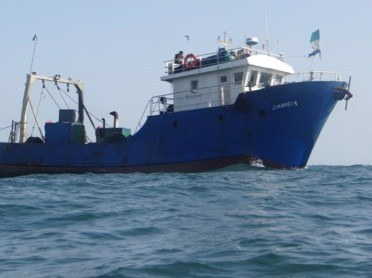 On the run: Three illegal trawlers flee Sierra Leone to escape justice