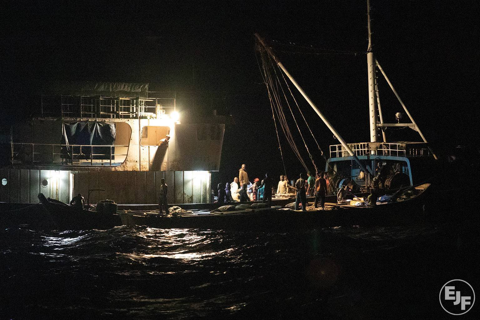 Trawler fined for targeting undersized fish with illegal nets in Ghana