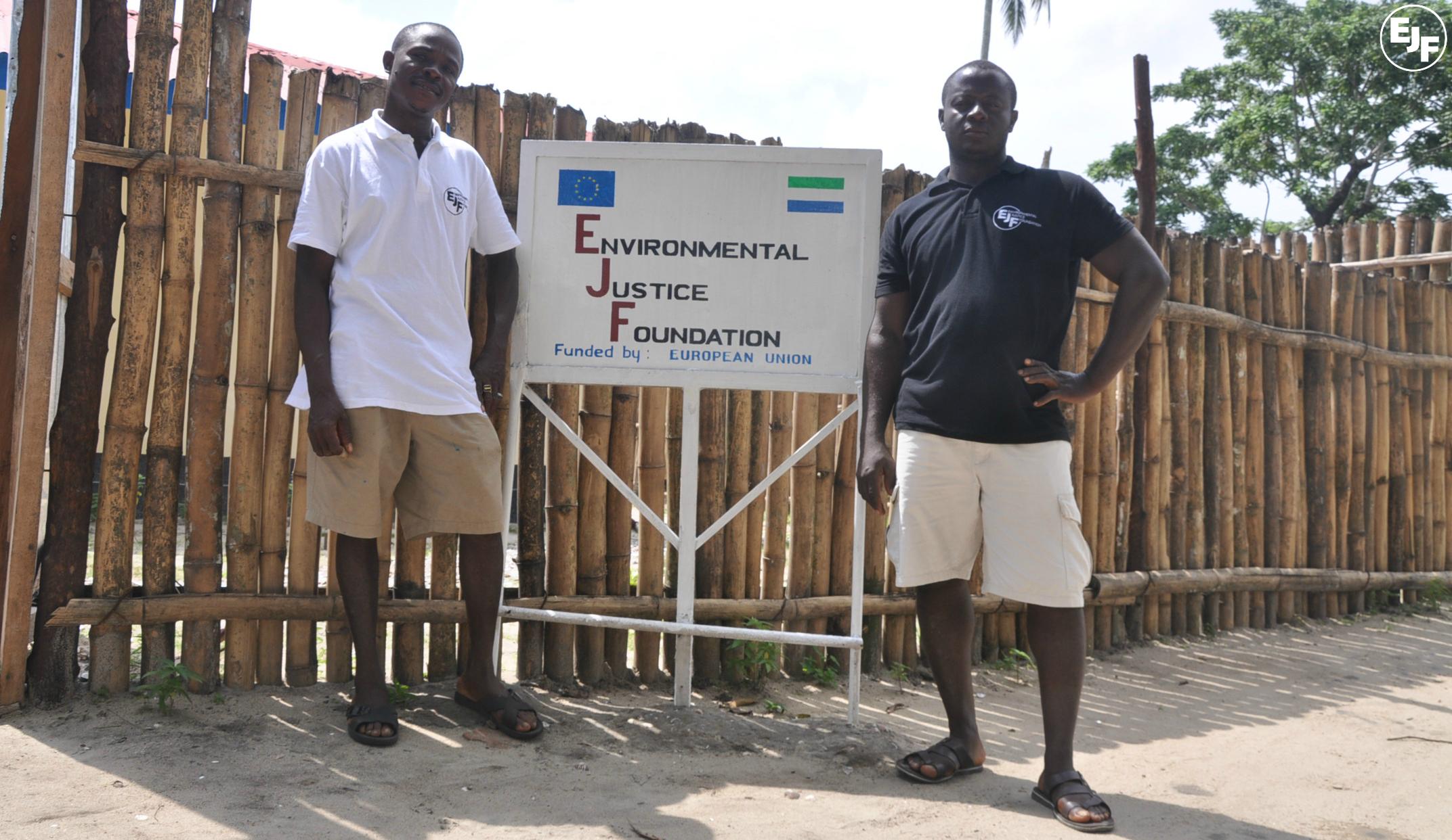 Ceremony held to open new EJF office in Bonthe, Sierra Leone