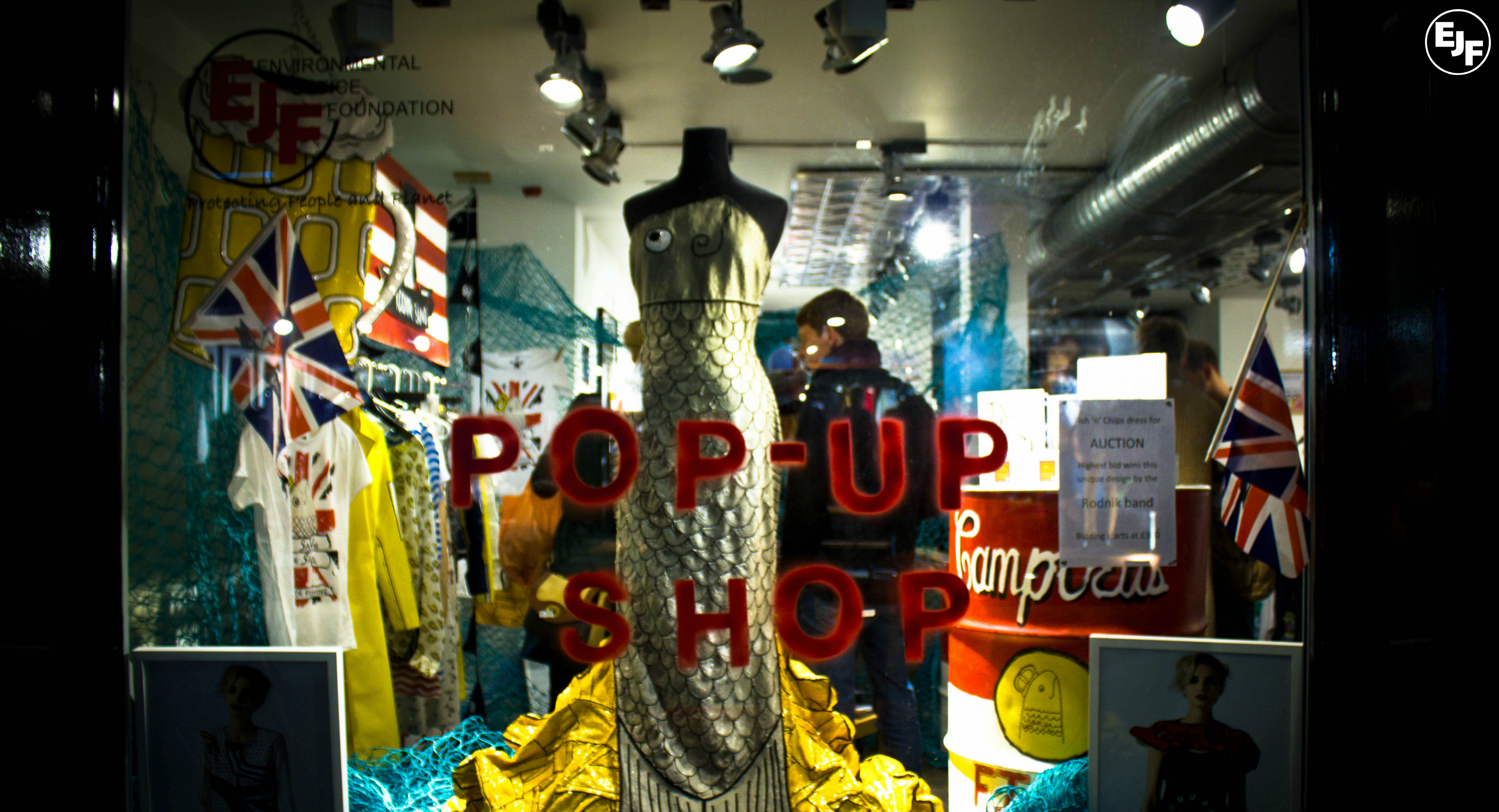 Ethical fashion launch party at EJF's Pop Up Shop
