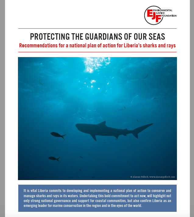 Protecting the guardians of our seas: Recommendations for a national plan of action for Liberia's sharks and rays