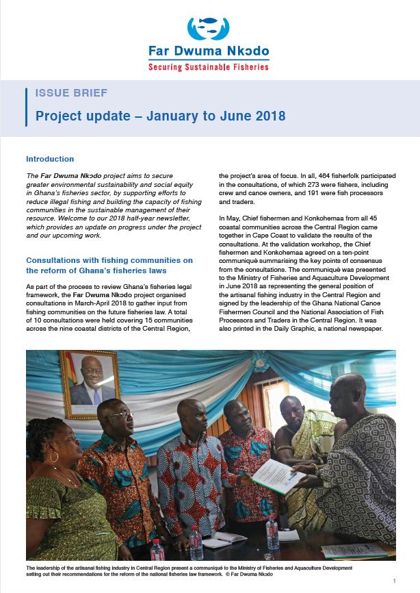 Far Dwuma Nkodo Project Update January to June 2018