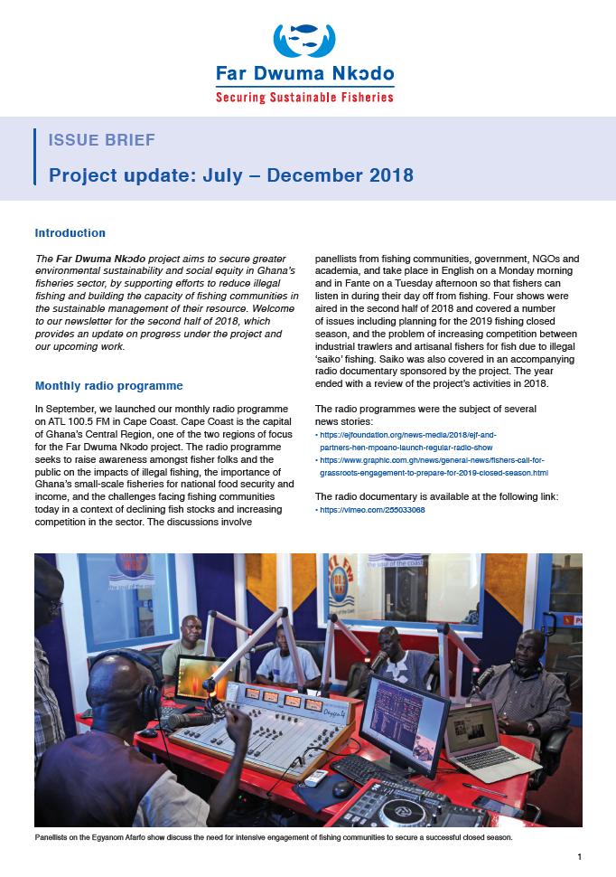 Far Dwuma Nkodo project update: July – December 2018