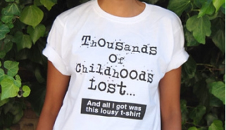 'Thousands of Childhoods Lost... And all I got was this lousy T-shirt'