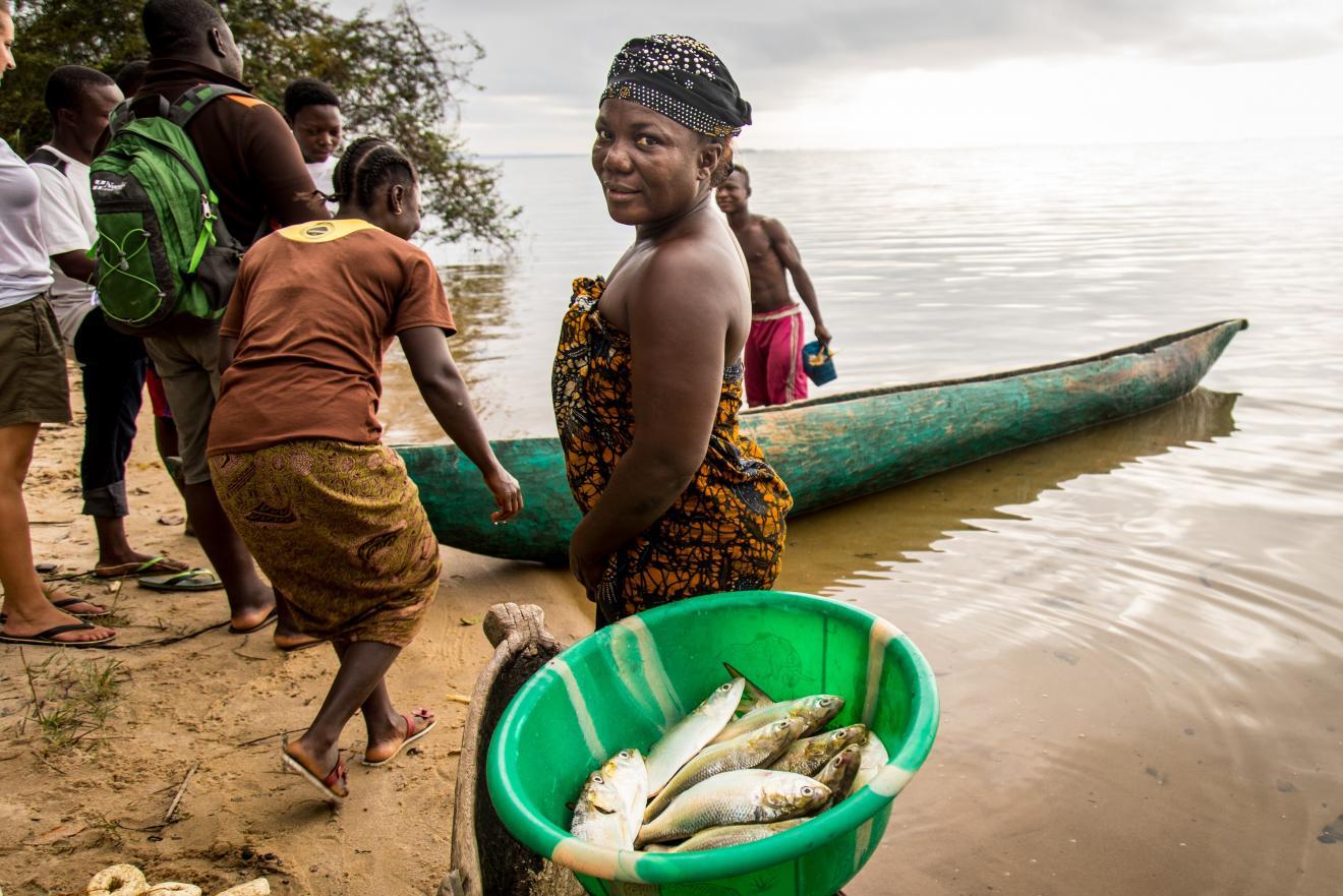Woman fisher Liberia