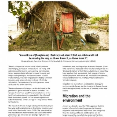 Climate change and migration: Forced displacement, 'climate refugees' and the need for a new legal instrument