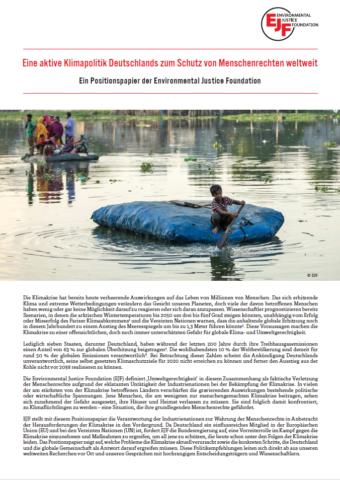 Positionspapier | Aktive Klimapolitik zum Schutz der Menschenrechte