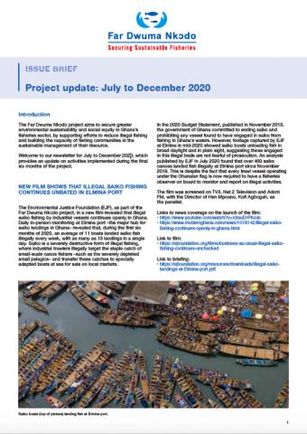 Far Dwuma Nkɔdo Project update: July to December 2020