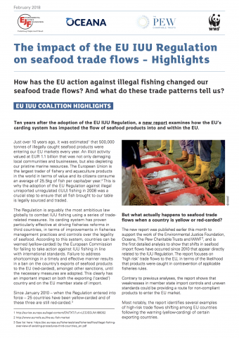 Highlights: The Impact of the IUU Regulation on Seafood Trade Flows