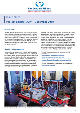 Far Dwuma Nkodo project update: July – December 2018