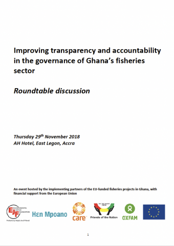 Improving transparency and accountability in the governance of Ghana's fisheries sector - Meeting report