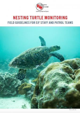 Überwachung nistender Schildkröten: Handbuch für EJF-Mitarbeitende & Patrouillen-Teams